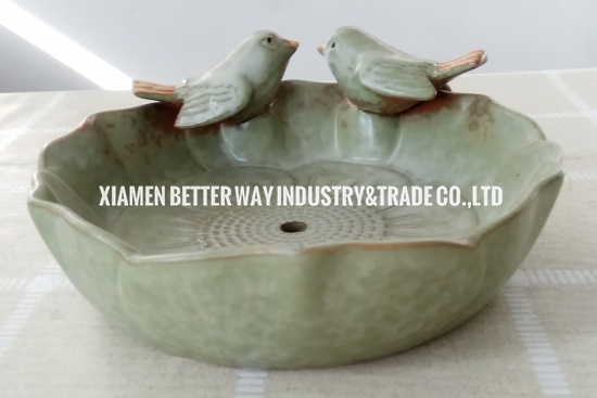 ceramic glazed pots outdoor