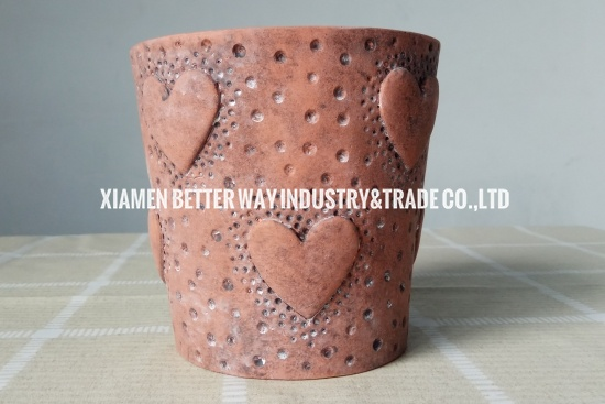 heart shape succulent pot