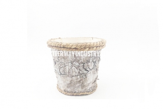 birch bark covered vase